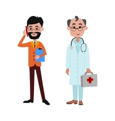 People businessman and doctor different vector