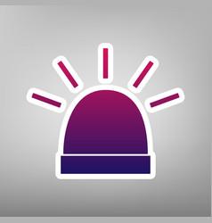 Police single sign purple gradient icon vector
