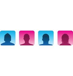 profile vector image vector image