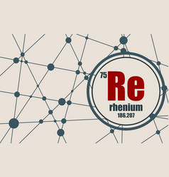 rhenium chemical element vector image vector image
