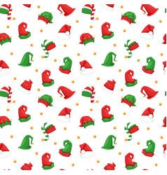 santa christmas hat seamless vector image vector image