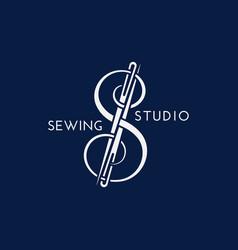 Sewing studio logo vector