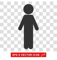 Standing Child Eps Icon vector image