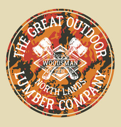 The great outdoor woodsman lumber company vector