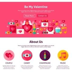 Website design be my valentine vector