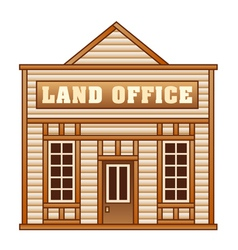 Wild West Land office vector image vector image