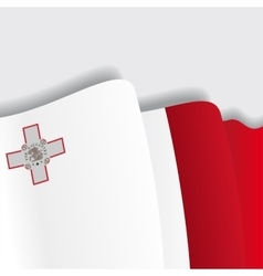 Maltese waving flag vector