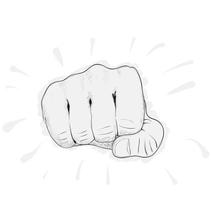 Fist punch vector