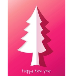 Paper cut christmas tree  eps8 vector