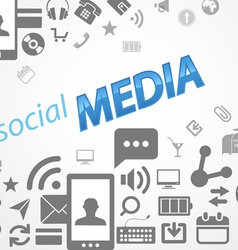 Social media abstract icons vector image