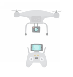 Aerial drone and drones controller vector