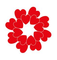 red circle heart vector image