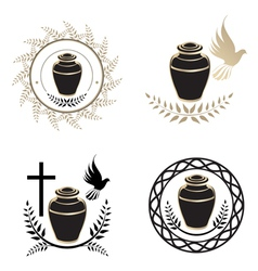 Urns vector image