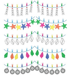 Nautical holiday bunting vol ii vector
