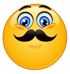 emoticon with mustache vector image