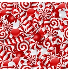 Seamless background with red and white candies vector