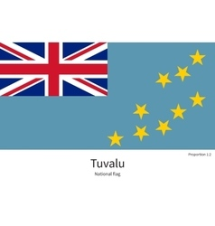 National flag of tuvalu with correct proportions vector