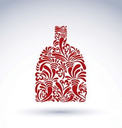 Alcohol flower-patterned bottle classic pitcher vector