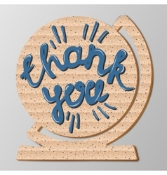 Inscription thank you vector