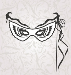 Venice Carnival or Theater Mask with Ribbons vector image
