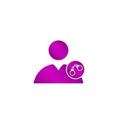 User icon handcuffs vector