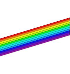Angular rainbow colored stripes - design element vector