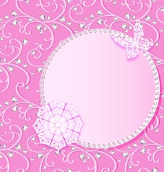 background card with flower lace and delicate vector image vector image