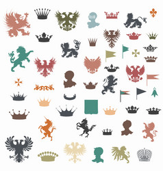Big set of heraldic shapes vector