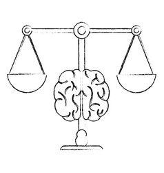 Brain balance justice equality image vector