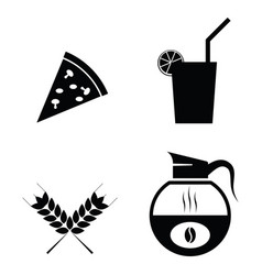 breakfast icons set vector image vector image