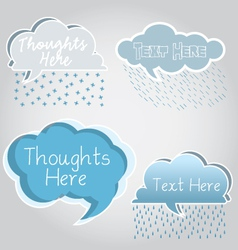 Cloud Speech Bubbles vector image vector image