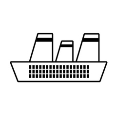 Cruise ship travel maritime line vector