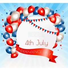 Holiday american background with colorful balloons vector