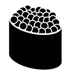 isolated sushi silhouette vector image