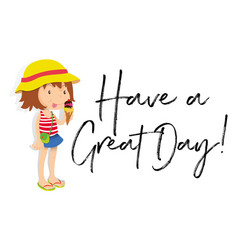 Phrase expression for have a great day vector