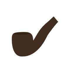 Pipe for smoking icon vector