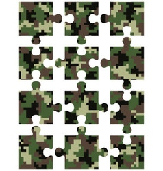 Puzzle camouflage seamless vector image