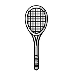 Racket tennis equipment - shadow vector