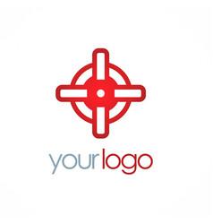 round target logo vector image