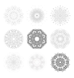 Set of round shapes technical vector