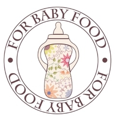 Stamp for baby food vintage vector