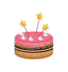 Sweet cake card icon vector