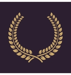 The laurel wreath icon prize and reward honors vector