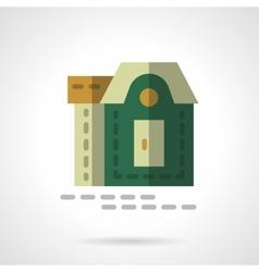 Tourist cottage flat color design icon vector