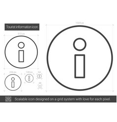Tourist information line icon vector