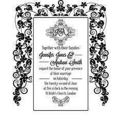 vintage delicate formal invitation card vector image
