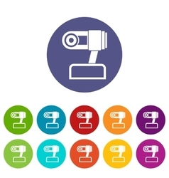 Webcam set icons vector image