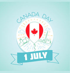 1 july canada day vector
