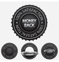 100 satisfaction black badges vector image