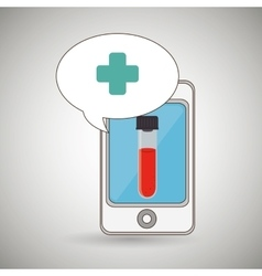 Smartphone cross service medical vector